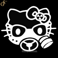"Наклейка ""Hello Kitty Gas Mask"""