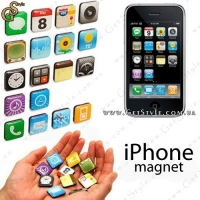 "Набор магнитов iPhone - ""App Magnets"" - 18 шт."