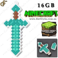 "Флешка Алмазный меч из MineCraft - ""Diamond Sword"" - 16 Gb!"