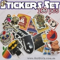"Набор наклеек - ""Stickers Set"" - 50 шт."