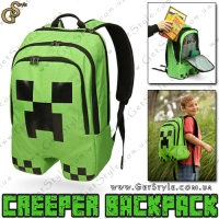 "Рюкзак Крипер из Minecraft - ""Creeper Backpack"""