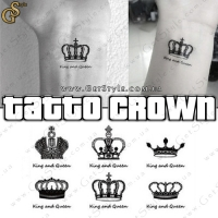 "Тату-стикеры - ""Tattoo Crown"" - 6 шт."